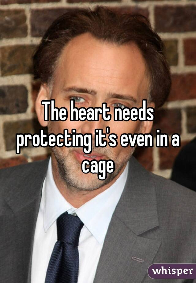 The heart needs protecting it's even in a cage