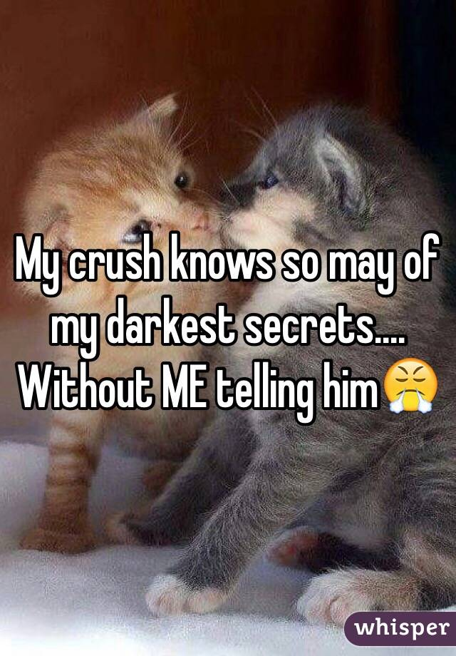 My crush knows so may of my darkest secrets.... Without ME telling him😤