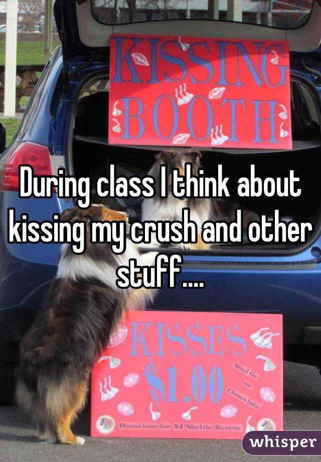 During class I think about kissing my crush and other stuff....