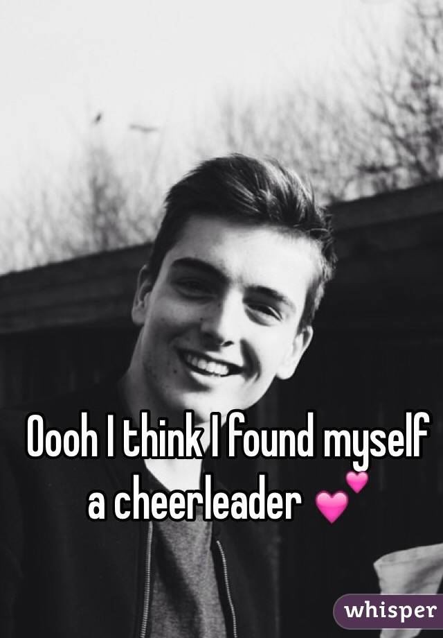 Oooh I think I found myself a cheerleader 💕