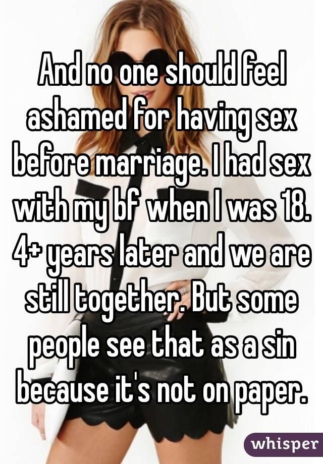 Is having sex a sin