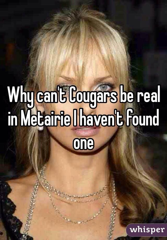 Why can't Cougars be real in Metairie I haven't found one
