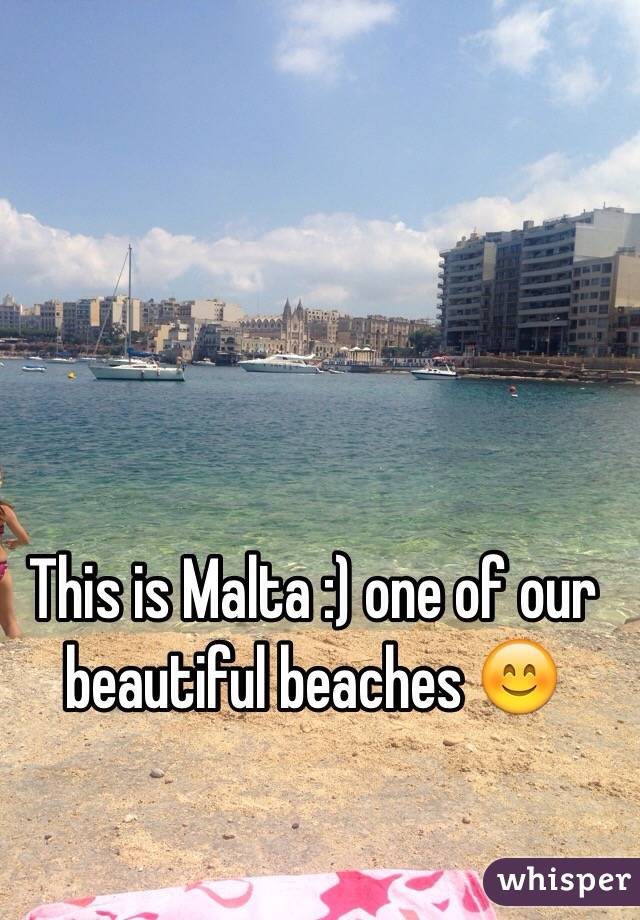 This is Malta :) one of our beautiful beaches 😊