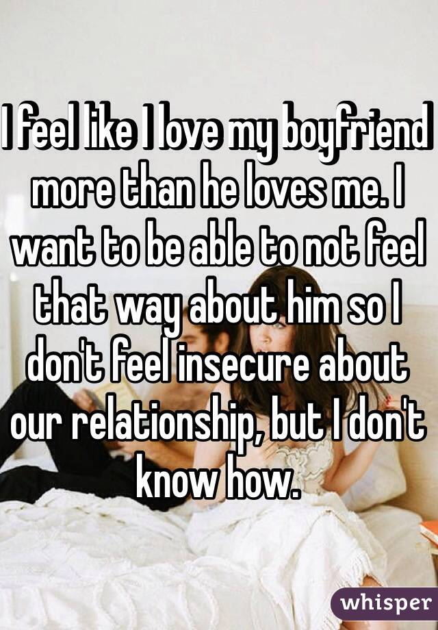 Insecure about boyfriends past