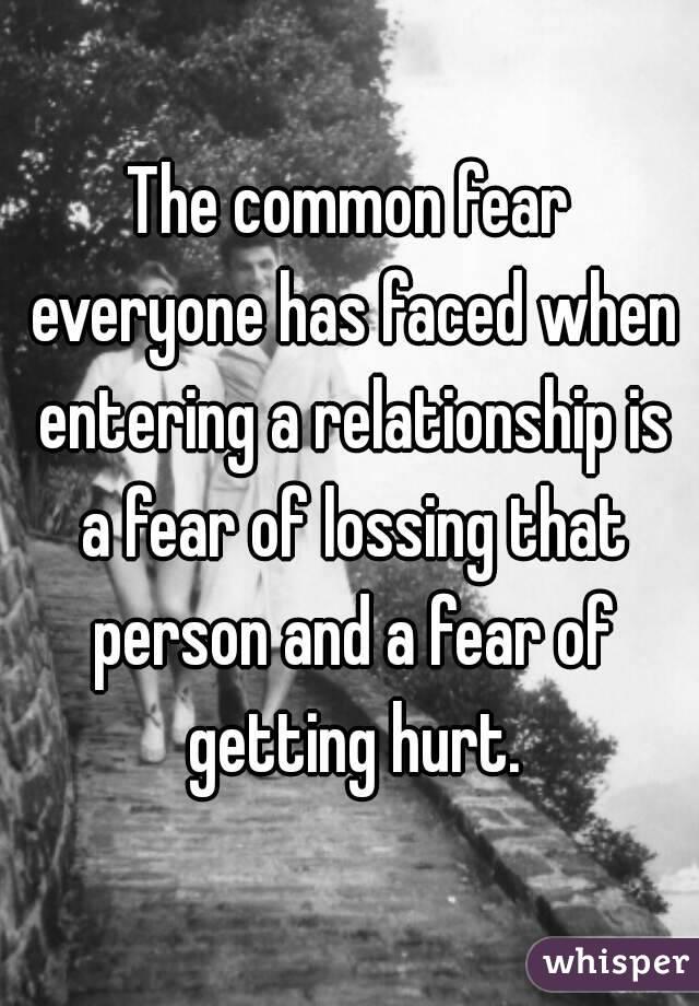 fear of getting hurt