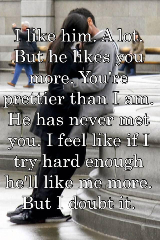 he likes me more than i like him what to do