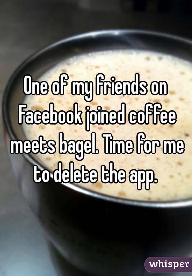 Coffee meets bagel facebook