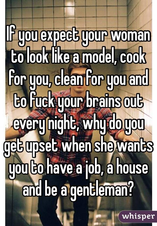 when a woman wants to cook for you