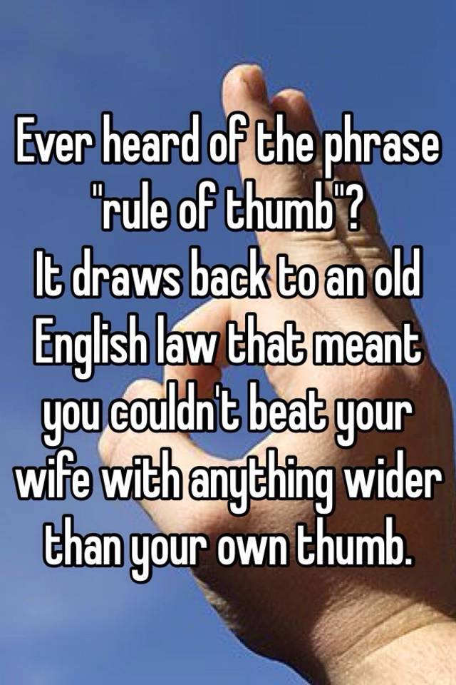 Rule of thumb beat