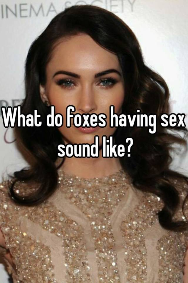What does having sex sound like