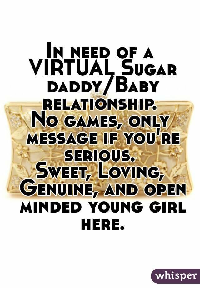 Virtual sugar baby