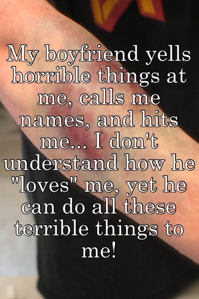 He calls me by name