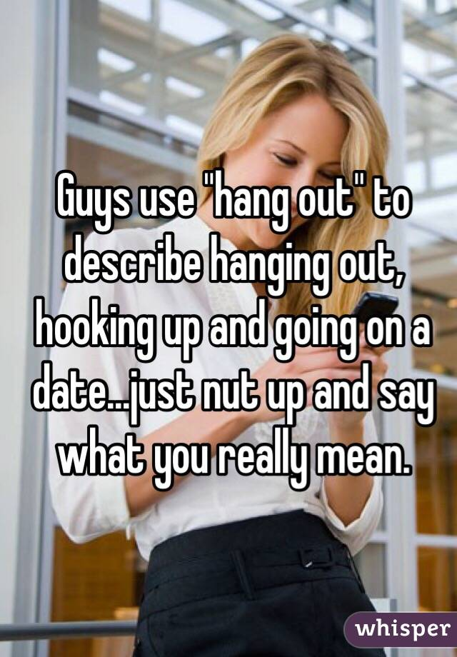 hang out vs hook up