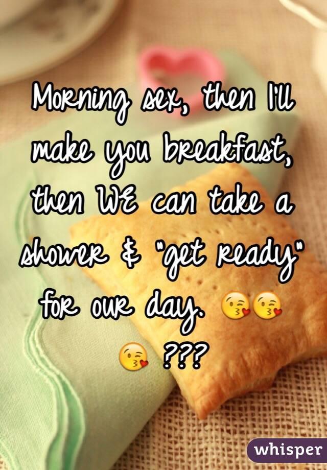 Morning breakfast sex
