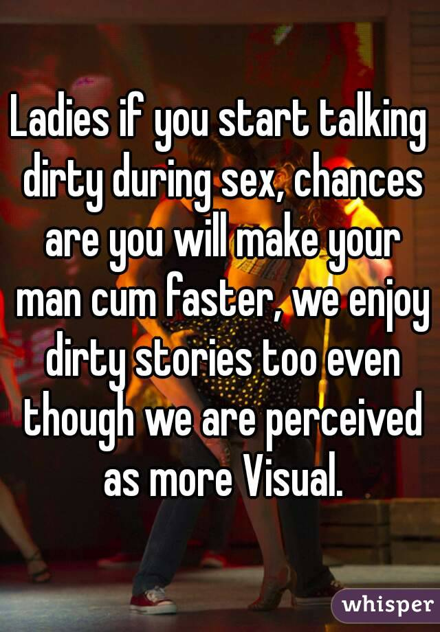 having sex and talking dirty