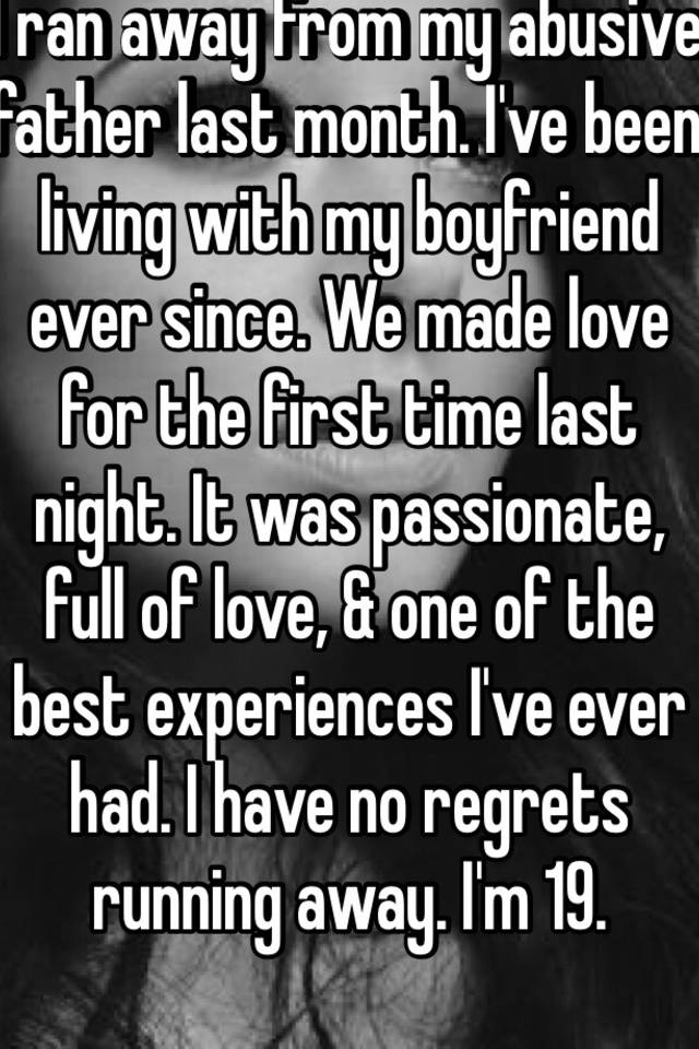 Living with boyfriend for first time