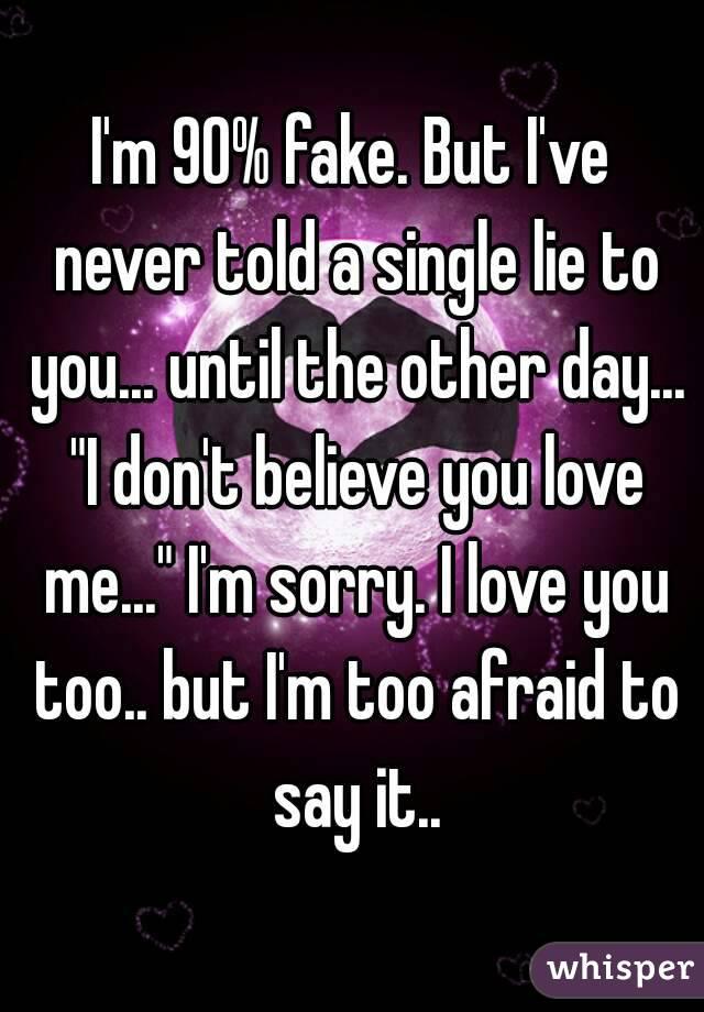 Lyric epic rap battles lyrics : I'm 90% fake. But I've never told a single lie to you... until the ...