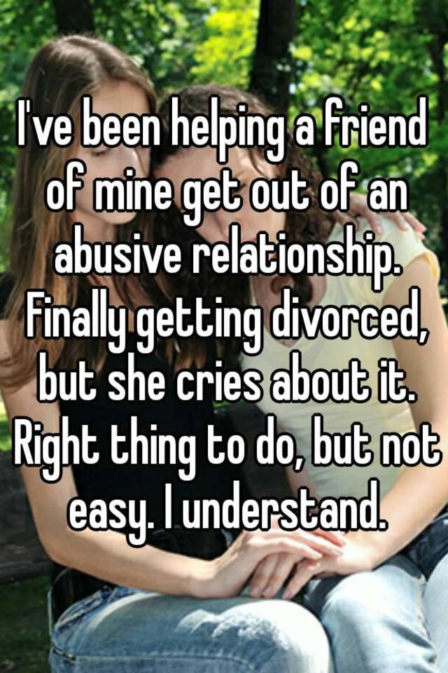 How to help a friend getting divorced
