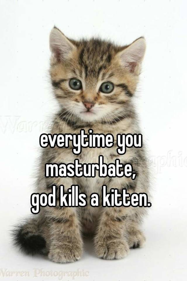 Unfortunately! every time you masturbate a kitten kills a for
