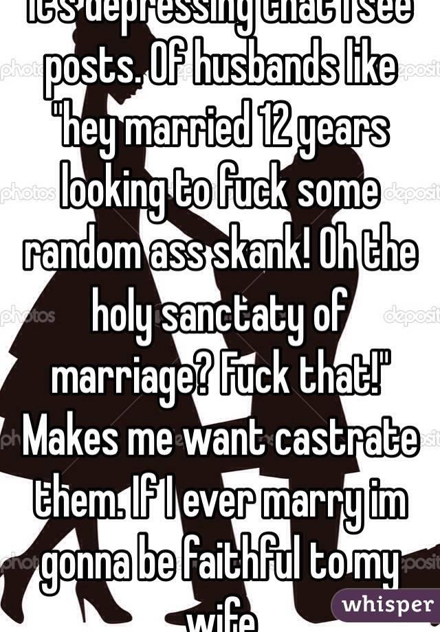 My marriage depresses me
