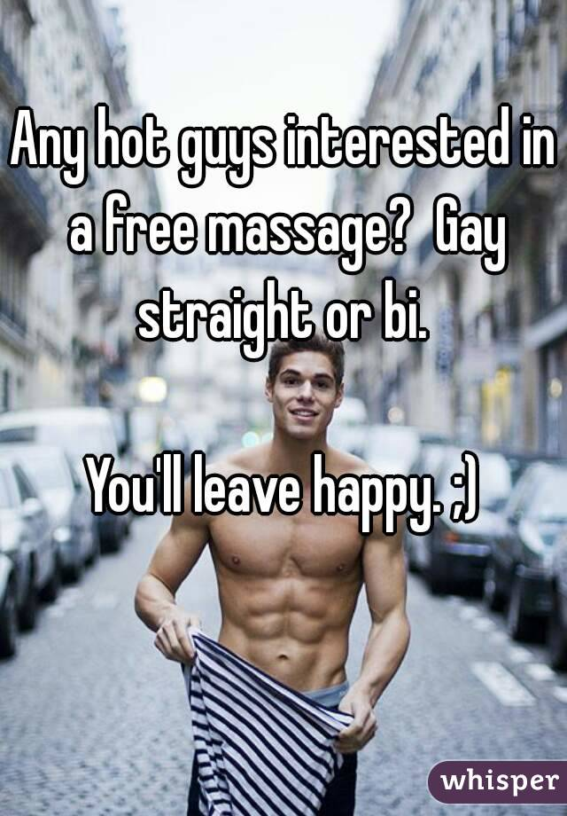 Free gay massages