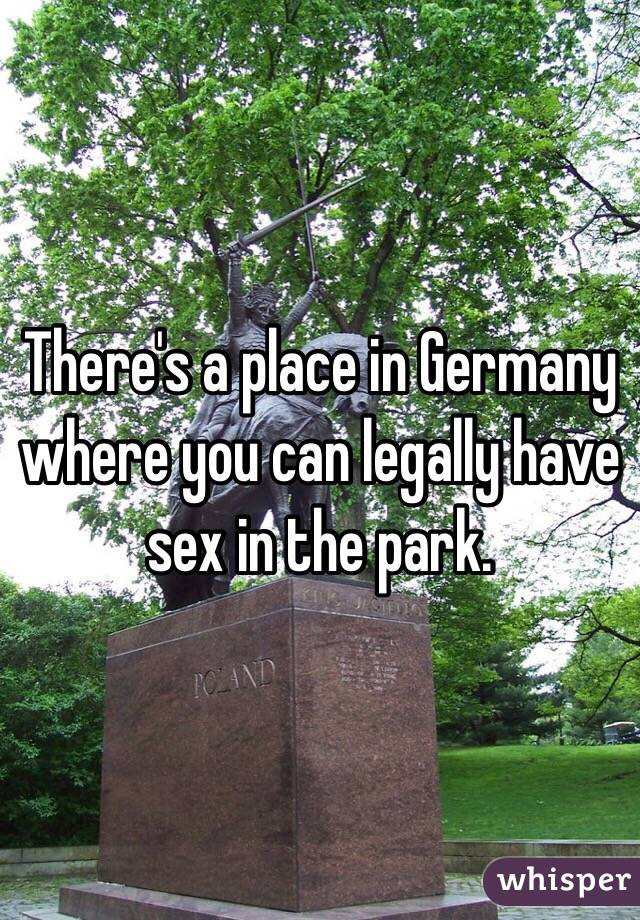 Where to park to have sex