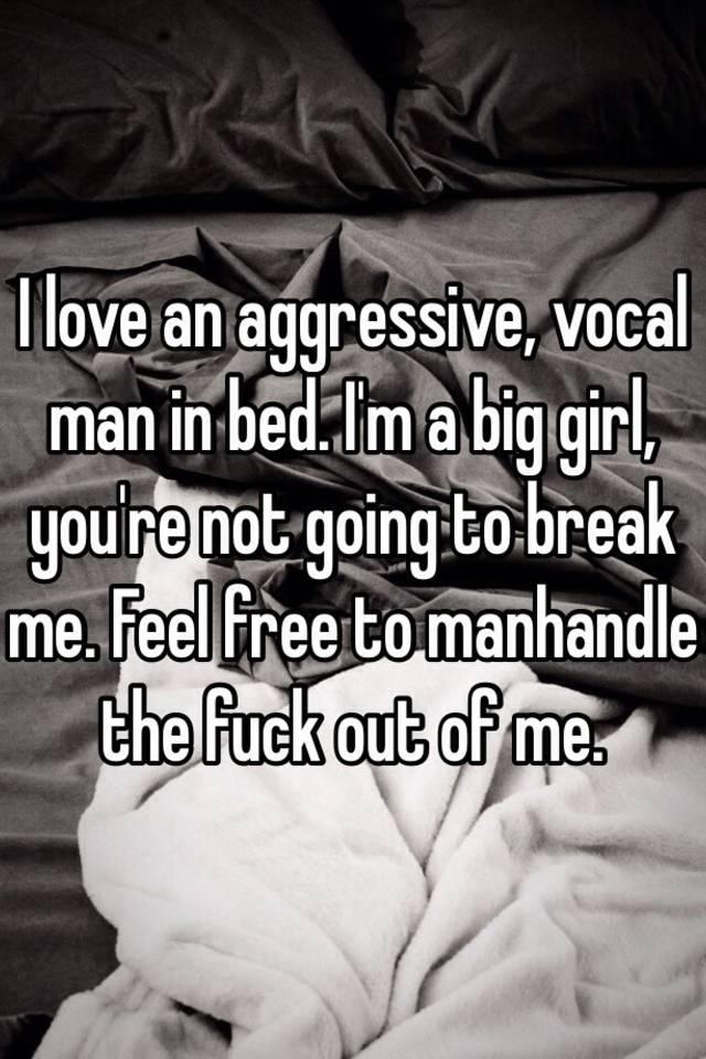 aggressive men in bed