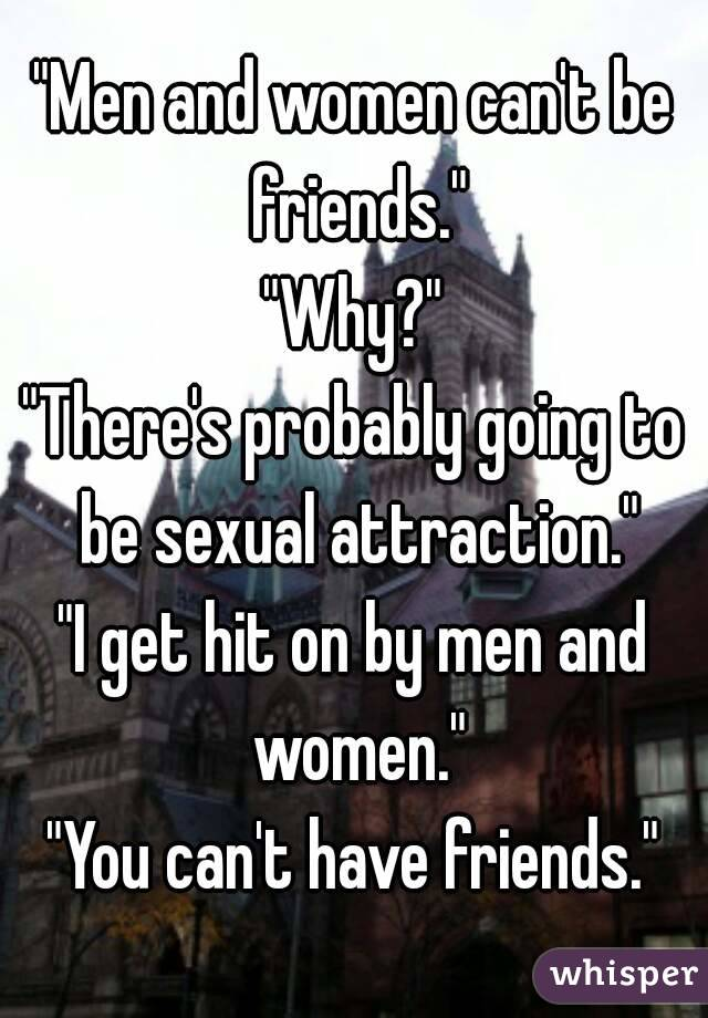 Can men be friends with women
