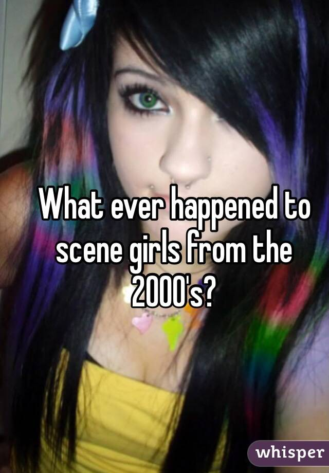 What ever happened to scene girls from the 2000's?
