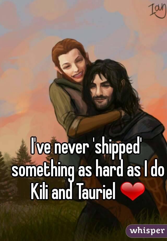 I've never 'shipped' something as hard as I do Kili and Tauriel ❤