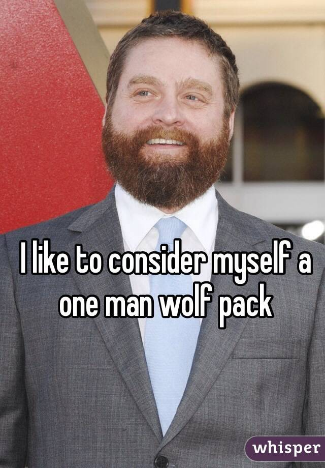 I like to consider myself a one man wolf pack