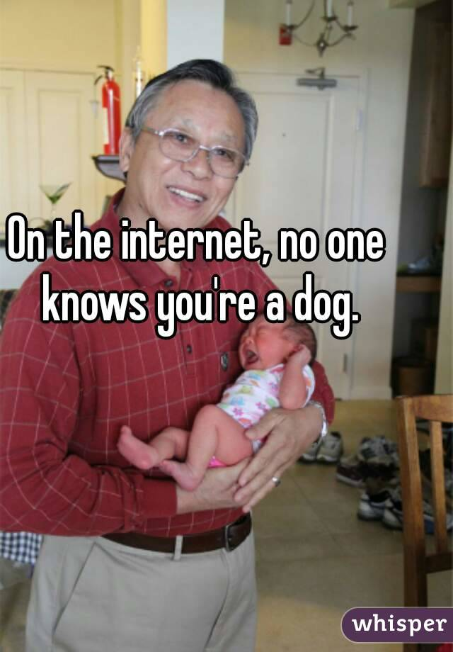 On the internet, no one knows you're a dog.