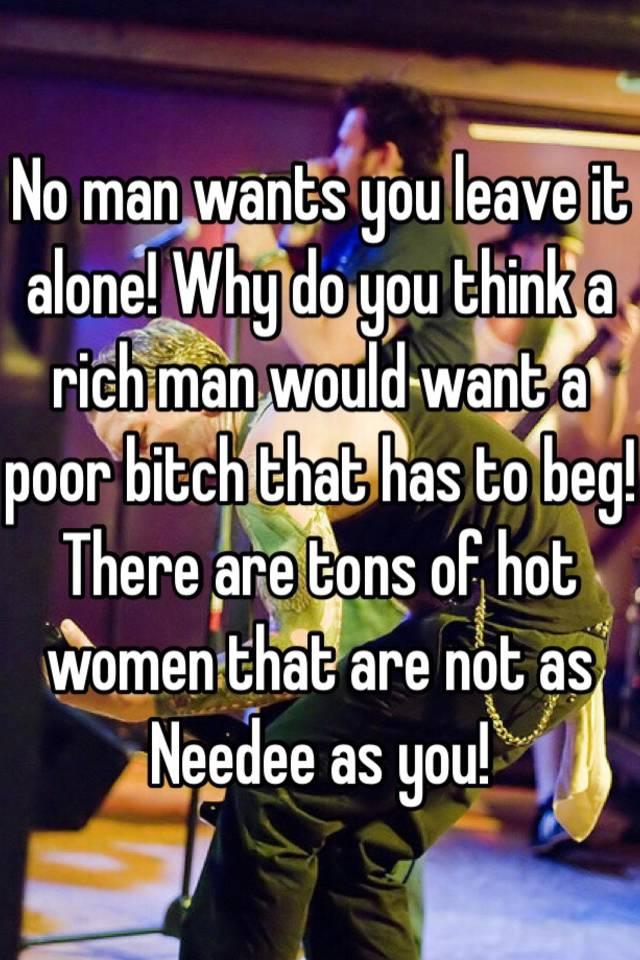 When a rich man wants you