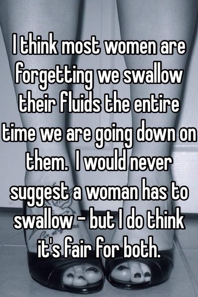 Do most women swallow