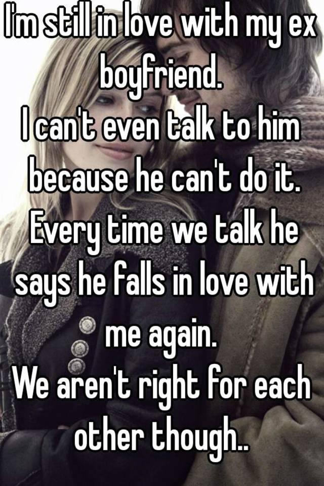 to my ex boyfriend