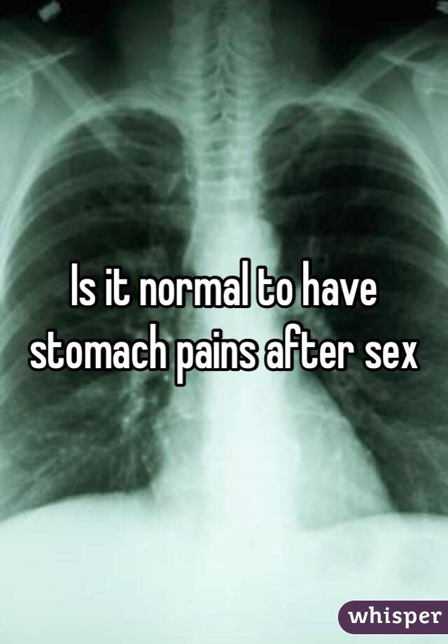 With stomache pain after sex boobs porn
