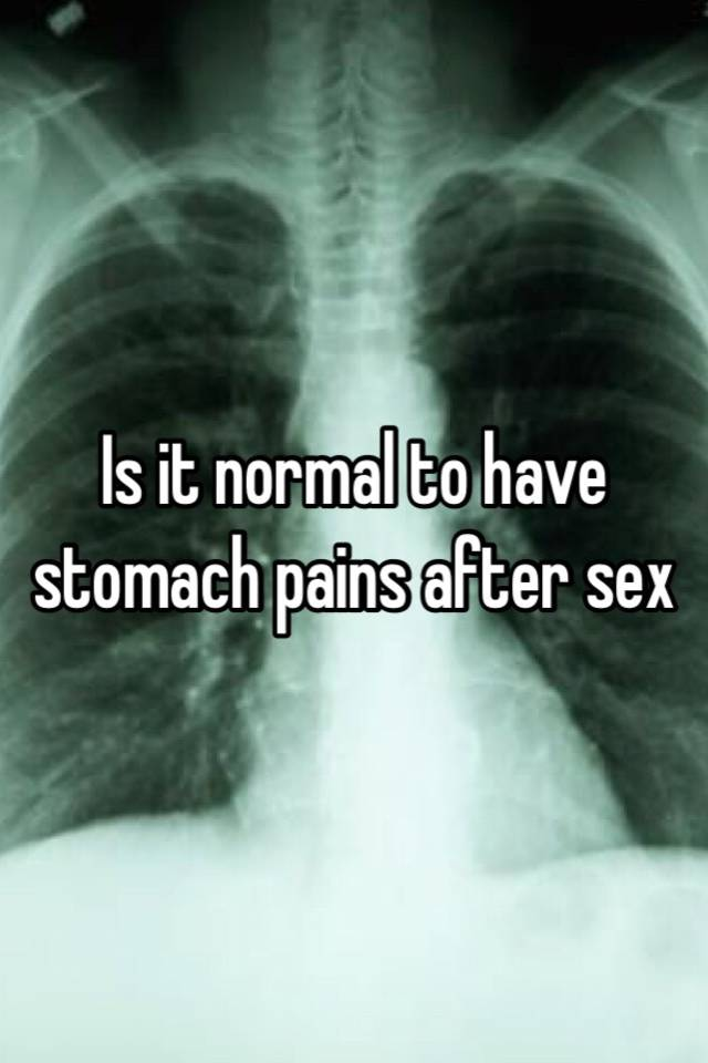 Remarkable, Stomach hurts after sex speaking