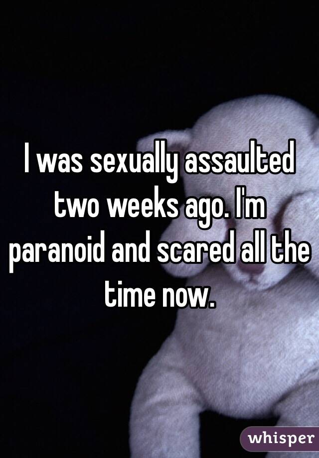 I was sexually assaulted two weeks ago. I'm paranoid and scared all the time now.