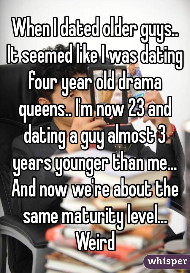 dating a man 3 years younger