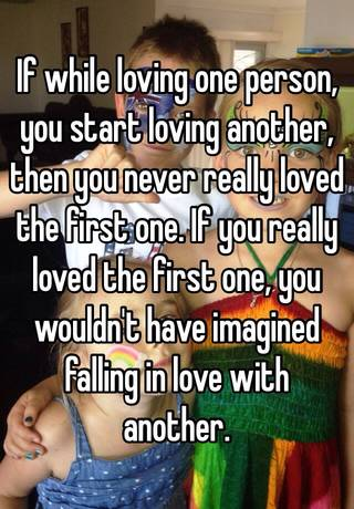 falling in love with another person