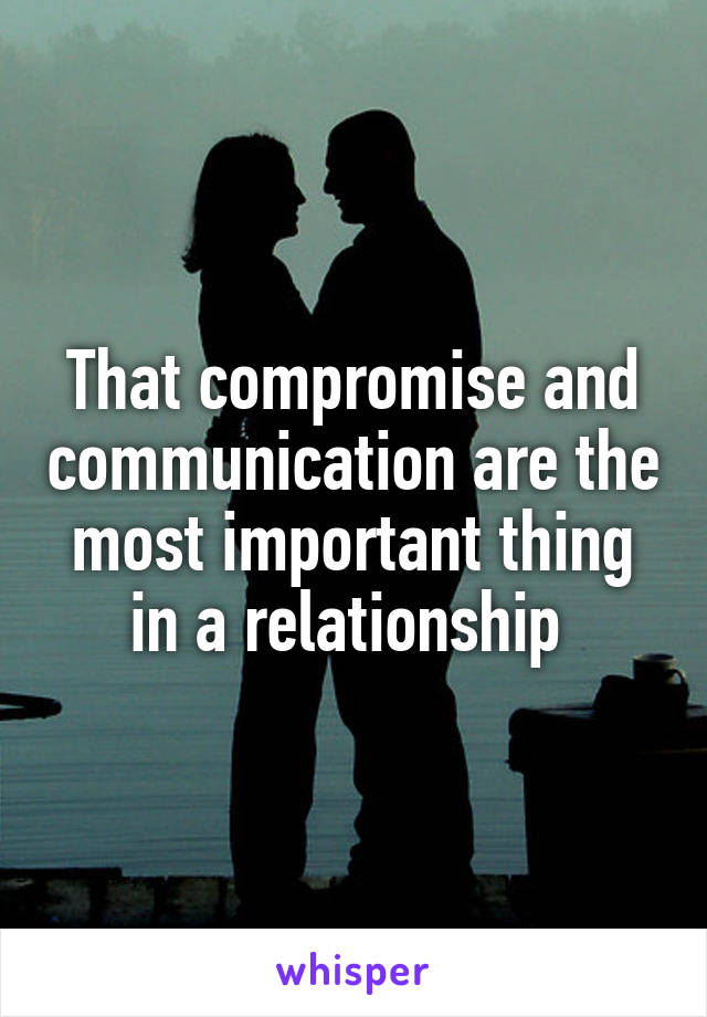 Is compromise important in a relationship