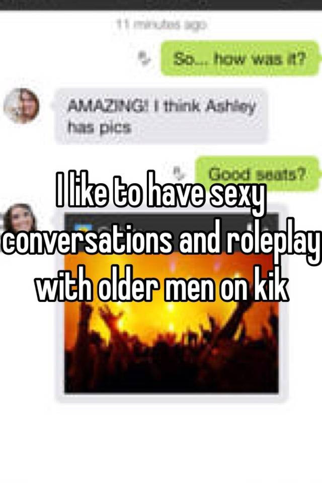 Hot kik conversations