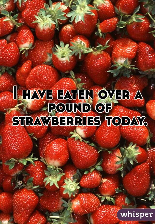 I have eaten over a pound of strawberries today.