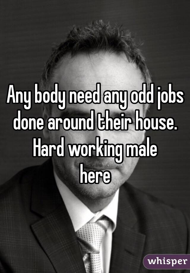 Any body need any odd jobs done around their house. Hard working male  here