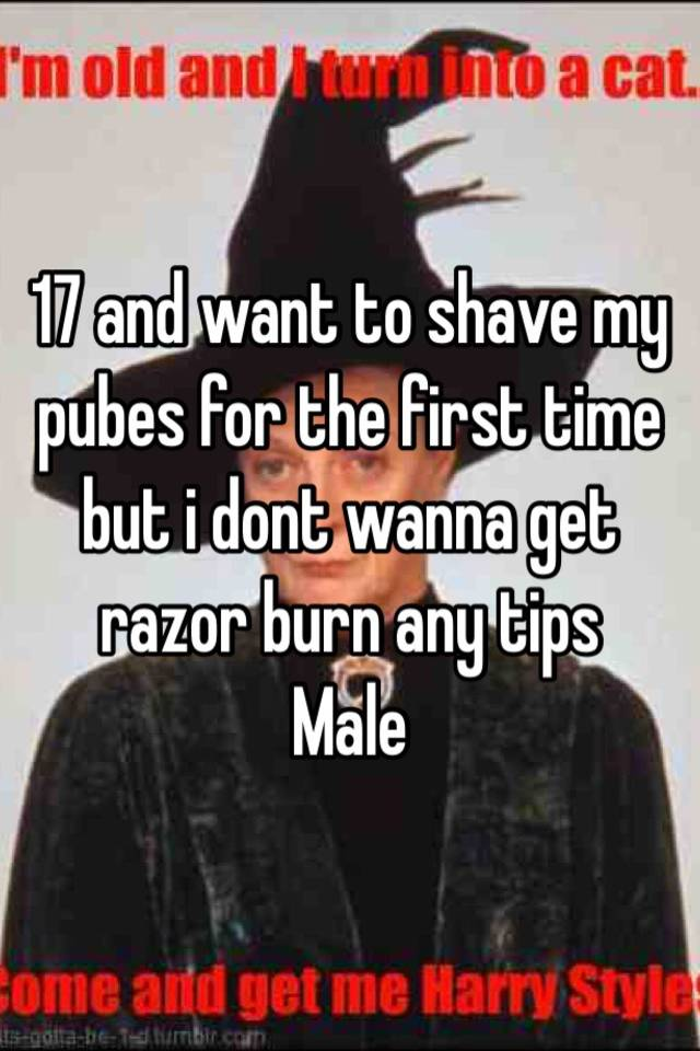 how to cut your pubes for the first time