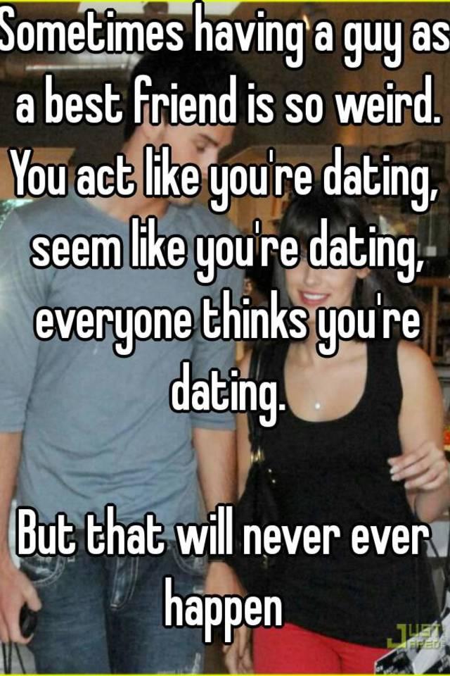 Online dating seems weird