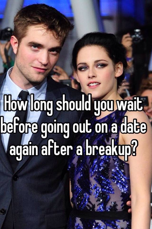 How long wait before dating again