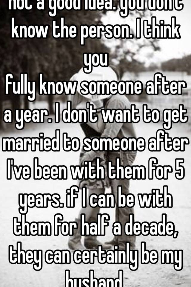 When Do You Identify You Want To Marry Someone