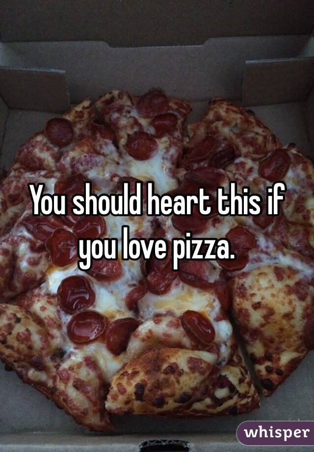 You should heart this if you love pizza.