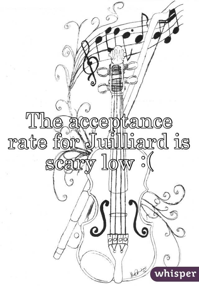The acceptance rate for Juilliard is scary low :(